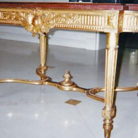 Louis XVI Center Table, Gold Leaf restoration, Miami, FL