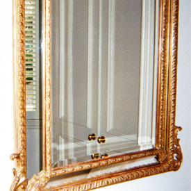 Louis XV Mirror c. 1890, Gold Leaf, Greenville, SC