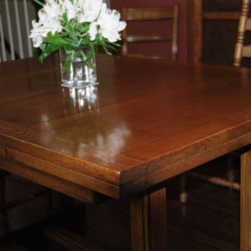 Square Oak Table, Laquer, Greenville, SC