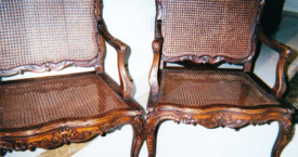 Louis XV Chairs, Wax Finish