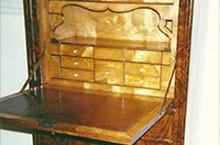 English Desk c.1850, full restoration, French Polish, Miami, FL