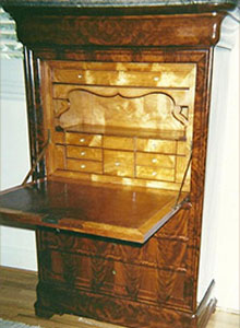 English Desk c.1850, full restoration, French Polish, Miami, FL