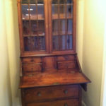 Early 1700's Walnut Secretary furniture restoration