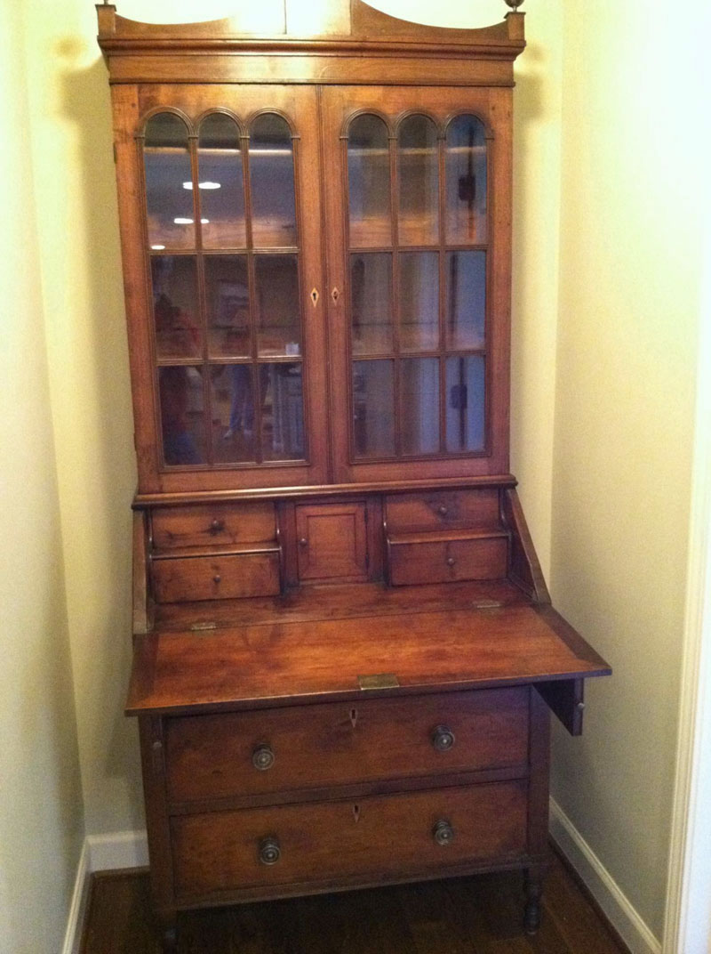 Early 1900's Walnut Desk, Wax Finish
